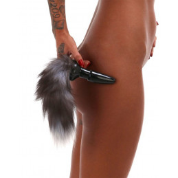 Buttplug Black Fox Tail