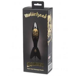 Motörhead Bomber Glass Clear Black Anal Dildo
