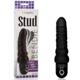 Stud Bendie Curvy Dildo Black